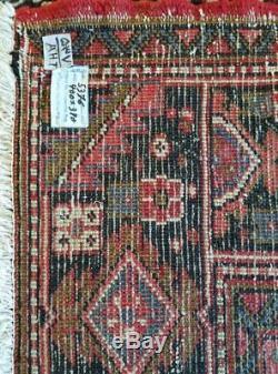 10.1 x 13.1 Heriz Rug Persian Serapi Antique Vintage Turkish Tribal