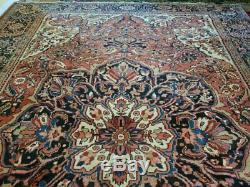 10.2 x 14.4 Antique Top Quality Serapi Persian Heriz Rug Vintage Persian Rug