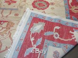 10' X14' Vintage Turkish Persian SERAPI HERIZ Hand Made Flat Weave Wool Rug #836