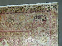 10' X 12' Vintage Hand Made Turkish Persian Tabriz Haj Jali Wool Rug Carpet Nice