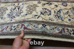 10' X 13' Authentic Nain Rug Handmade Hand Knotted Beige Background Oriental