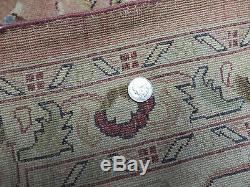 10' X 14' Vintage Hand Made Pak Persian Tabriz Haji Jalil Wool Rug Carpet Nice