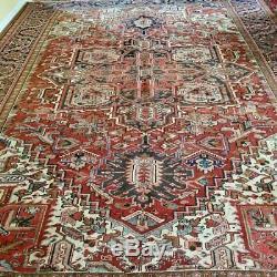 10 x 14 Vintage Top Quality Persian Heriz Rug Antique Serapi