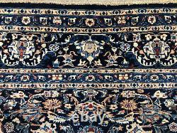 10x12 ANTIQUE BLUE WOOL RUG HAND-KNOTTED vintage oriental carpet handmade 9x12