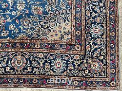 10x12 BLUE VINTAGE WOOL RUG HAND-KNOTTED oriental antique handmade 9x12 10x13 ft