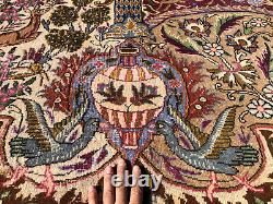 10x13 ANTIQUE RUG HAND-KNOTTED WOOL vintage oriental picotiral old handmade 9x12