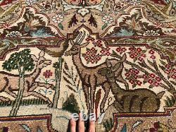 10x13 ANTIQUE WOOL RUG HAND-KNOTTED VINTAGE oriental handmade 9x12 10x12 9x13 ft