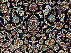 10x13 BLUE ANTIQUE RUG WOOL HAND KNOTTED VINTAGE ORIENTAL handmade carpet 9x12