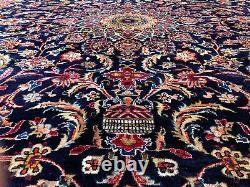 10x13 BLUE ORIENTAL RUG WOOL HAND-KNOTTED handmade antique handwoven carpet 9x13