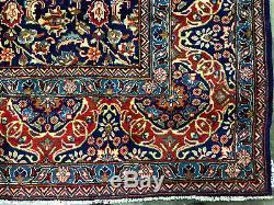 10x13 BLUE VINTAGE RUG WOOL HAND KNOTTED ORIENTAL handmade handwoven carpet 9x12