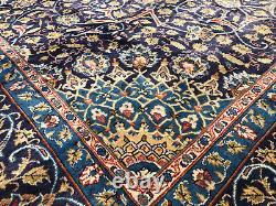10x13 BLUE VINTAGE WOOL RUG HANDKNOTTED handmade antique handwoven oriental 9x12