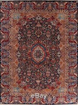 10x13 Dynasty Historical VINTAGE Kashmar Oriental Area Rug Handmade Wool Carpet