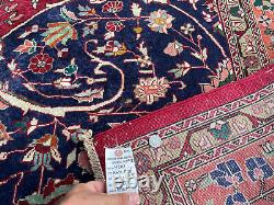 10x13 HANDMADE VINTAGE WOOL RUG HAND-KNOTTED ANTIQUE red blue oriental 9x12 ft