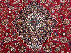 10x13 RED HANDMADE ANTIQUE WOOL RUG HAND-KNOTTED old ORIENTAL vintage blue 10x14