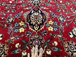 10x13 RED VINTAGE RUG HAND KNOTTED WOOL antique handmade oriental carpet 9x13 ft