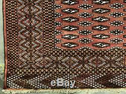 10x13 RED VINTAGE WOOL RUG HAND KNOTTED oriental handmade antique GEOMETRIC 9x12