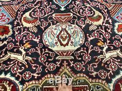 10x13 VINTAGE BLUE RUG HAND KNOTTED WOOL ANTIQUE oriental dark HANDMADE 9x12 ft