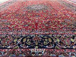 10x13 VINTAGE RED WOOL RUG HAND-KNOTTED ANTIQUE handmade formal oriental 9x12 ft