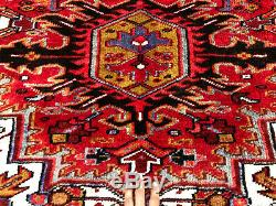 10x13 VINTAGE RUG HAND KNOTTED WOOL ANTIQUE handmade oriental geometric 10x14 ft