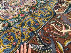 10x13 VINTAGE RUG HAND-KNOTTED WOOL oriental antique tree of life handmade 9x12