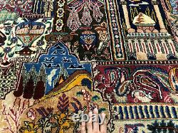 10x13 VINTAGE RUG HAND-KNOTTED WOOL oriental tree of life handmade 10x14 9x12 ft