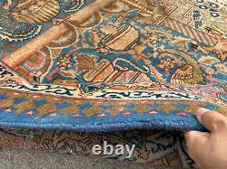 10x13 VINTAGE WOOL RUG HAND-KNOTTED oriental antique handmade 9x12 10x12 9x13