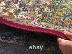 10x13 VINTAGE WOOL RUG HAND-KNOTTED oriental antique handmade pictorial big 9x12