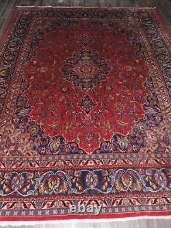 10x13ft. Vintage Sarouk Medallion Wool Room Size Rug