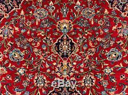 10x14 ANTIQUE RED WOOL RUG HAND KNOTTED VINTAGE oriental handmade carpet 10x13