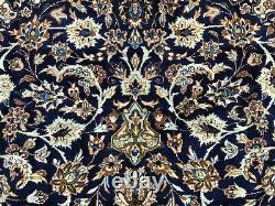 10x14 BLUE ANTIQUE RUG HAND-KNOTTED WOOL oriental vintage carpet mint 10x13 9x13