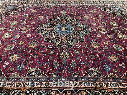 10x14 PURPLE VINTAGE RUG HAND KNOTTED WOOL ANTIQUE oriental handmade red carpet