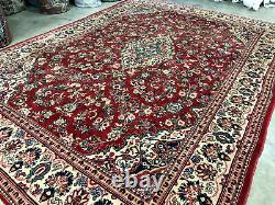 10x14 RED ANTIQUE RUG HAND-KNOTTED WOOL handmade oriental vintage carpet 10x13