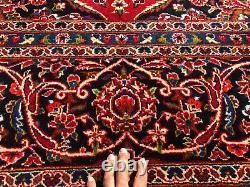 10x14 RED VINTAGE RUG HAND-KNOTTED ORIENTAL WOOL CARPET big handmade navy blue