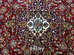 10x14 RED VINTAGE RUG HAND KNOTTED WOOL ANTIQUE oriental blue handmade carpet