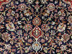 10x14 VINTAGE BLUE RUG HAND KNOTTED WOOL ANTIQUE oriental HANDMADE 10x13 9x14 ft