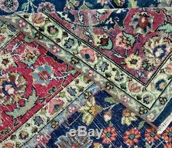11x7 ft Vintage Sarouk Tabrizz Heriz Kazak Hand made Knotted hereke RUG 10.5x6.8