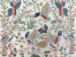 12863 Vintage Aubusson Rug Handmade Rug Bedroom Needlepoint Wool Kilim 5x3