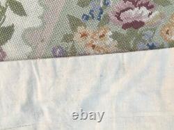 13181 Handmade Rug Vintage Aubusson Rug Bedroom Needlepoint Wool Kilim Rug 4x2