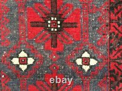 13193 Handwoven Rug Afghan Rug Vintage Rug Turkish Rug Tribal Bedroom Kilim 6x4