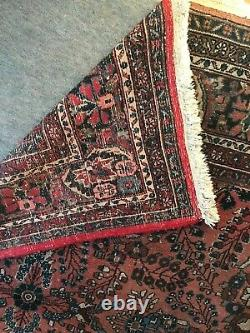1930s Red Wool Vintage Kapoutnang Carpet Rug 9ft x 12ft Oriental Hand Knotted