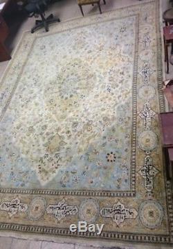 #19c 12+18 RUG Persian Antique RUG TABATABAEYAN QAJAR Geometric VTG rare K101