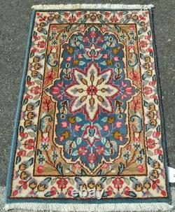 1'9x3'2 Vintage Kurdish Carpet Wool Area Rug Handmade Estate Oriental Carpet 2x3