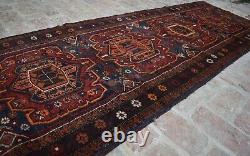 2'11 x 12 ft Handmade vintage afghan tribal baluchi adraskan persian runner rug