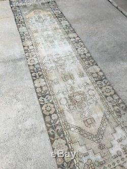 2'6x10' Vintage Antique Persian Turkish Oriental Oushak Runner Rug