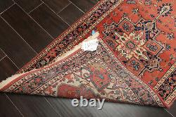 2'7'' x 12' Vintage Runner Hand Knotted 100% Wool Romanian Herizz Area Rug Peach