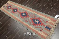 2'7 x 9'10 Vintage Hand Woven Turkish Kilim Southwestern Area Rug Runner