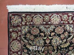 2' X 3' Vintage Hand Made PERSIAN Kirman Kerman Sarouk Wool Rug Carpet NICE