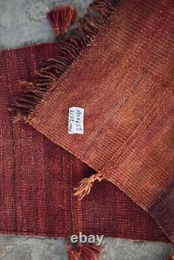 2 x 8'6 ft Handmade vintage afghan tribal maldari wool persian kilim runner rug