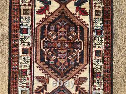 2x10 VINTAGE RUNNER RUG WOOL HAND-KNOTTED antique handmade oriental 2x9 3x10 3x9