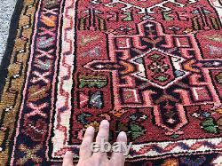 2x12 VINTAGE RUNNER RUG WOOL HAND-KNOTTED antique handmade tribal oriental 2x13